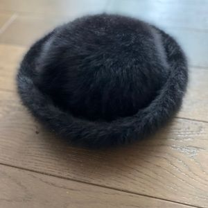 Kangol Soft and Furry Black Hat, Regular Size